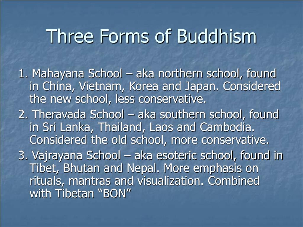 Three Forms of Buddhism