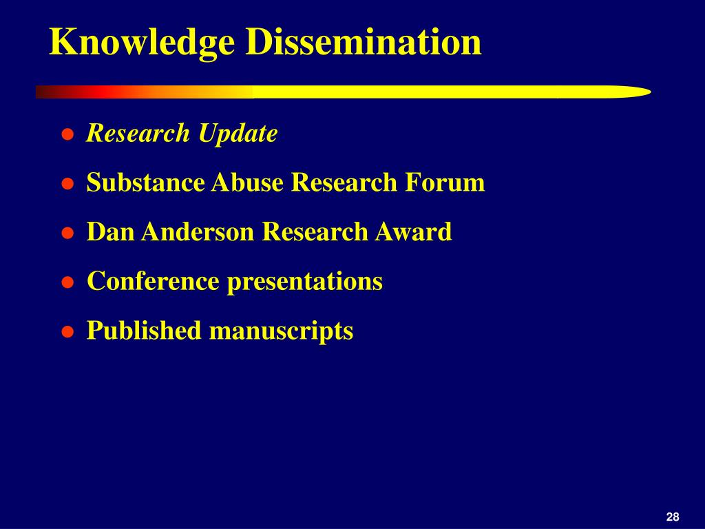 Knowledge Dissemination