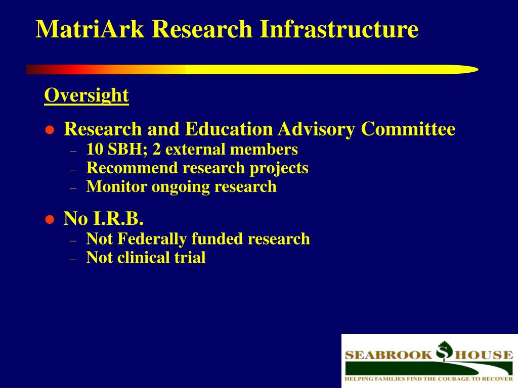 MatriArk Research Infrastructure