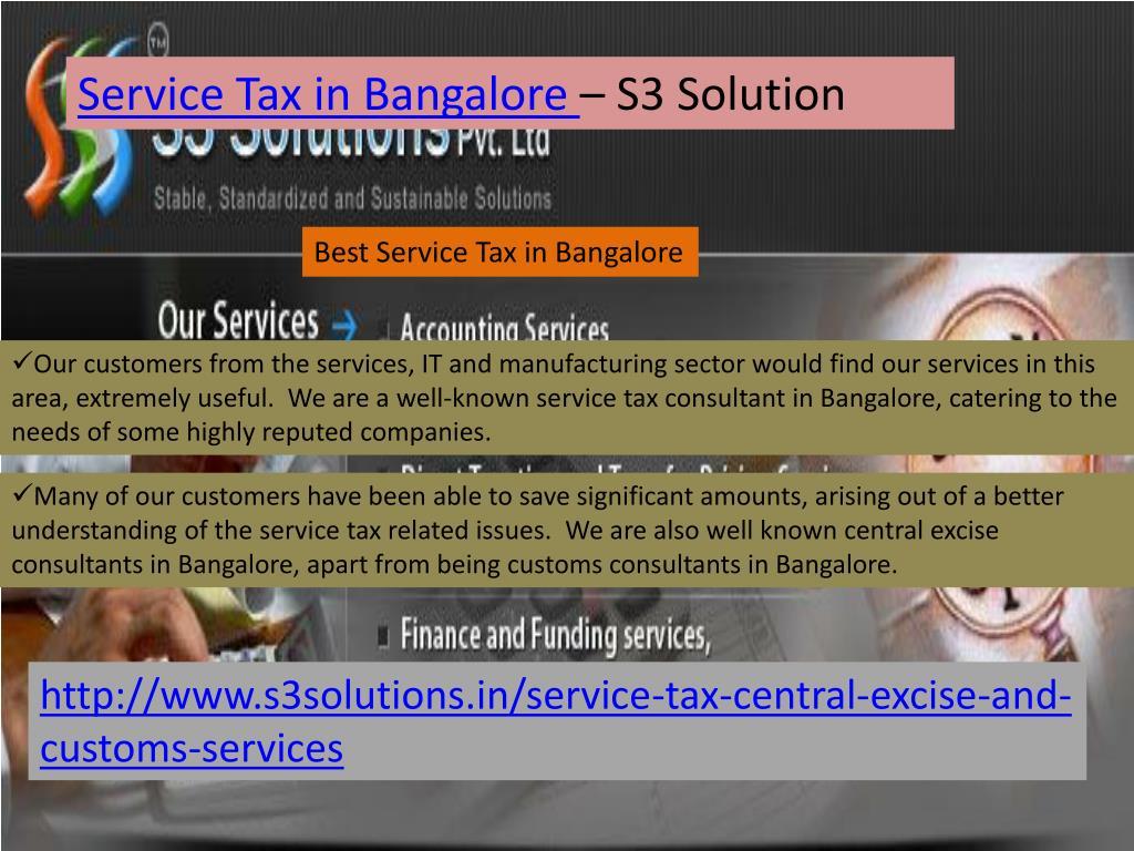 Service Tax in Bangalore