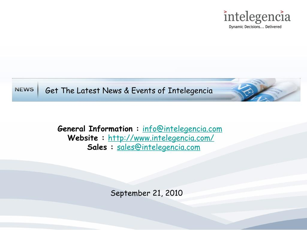 Get The Latest News & Events of Intelegencia