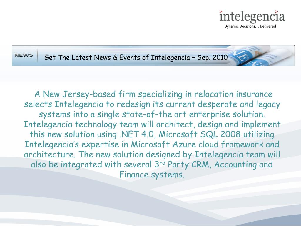 Get The Latest News & Events of Intelegencia – Sep. 2010