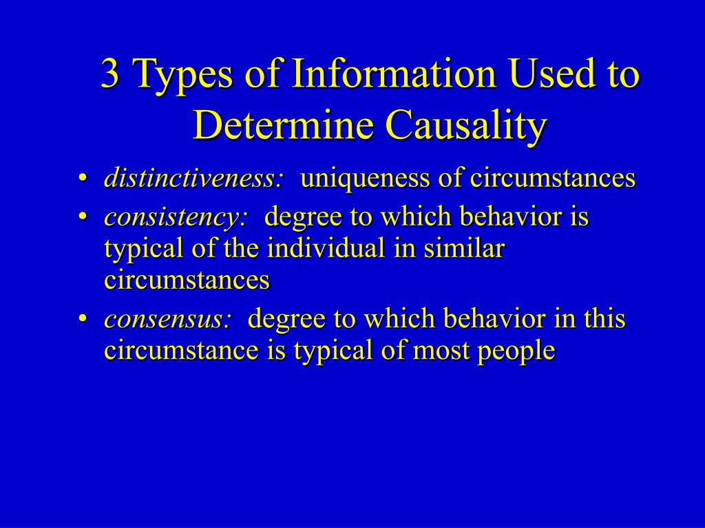 3 Types of Information Used to Determine Causality