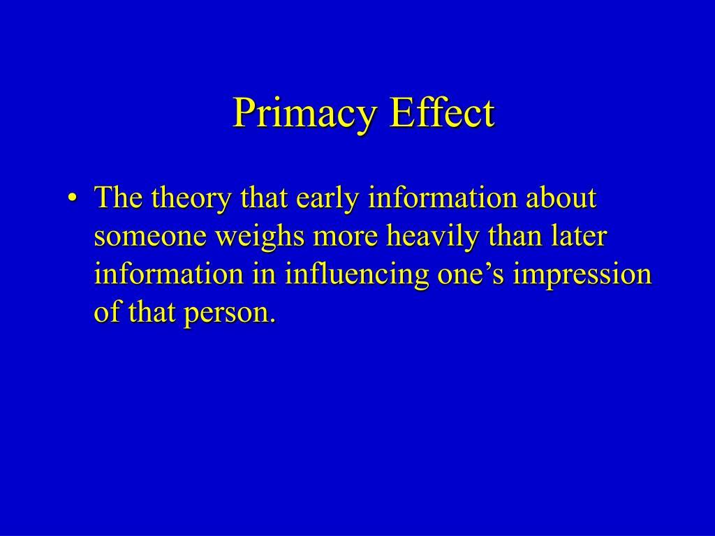 Primacy Effect