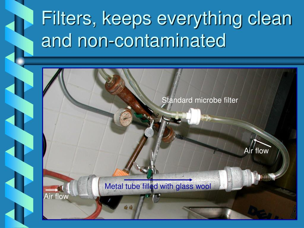 Filters, keeps everything clean and non-contaminated