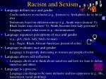 racism and sexism