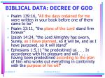 biblical data decree of god