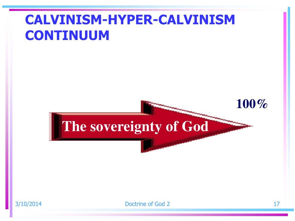 CALVINISM-HYPER-CALVINISM