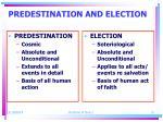 predestination and election