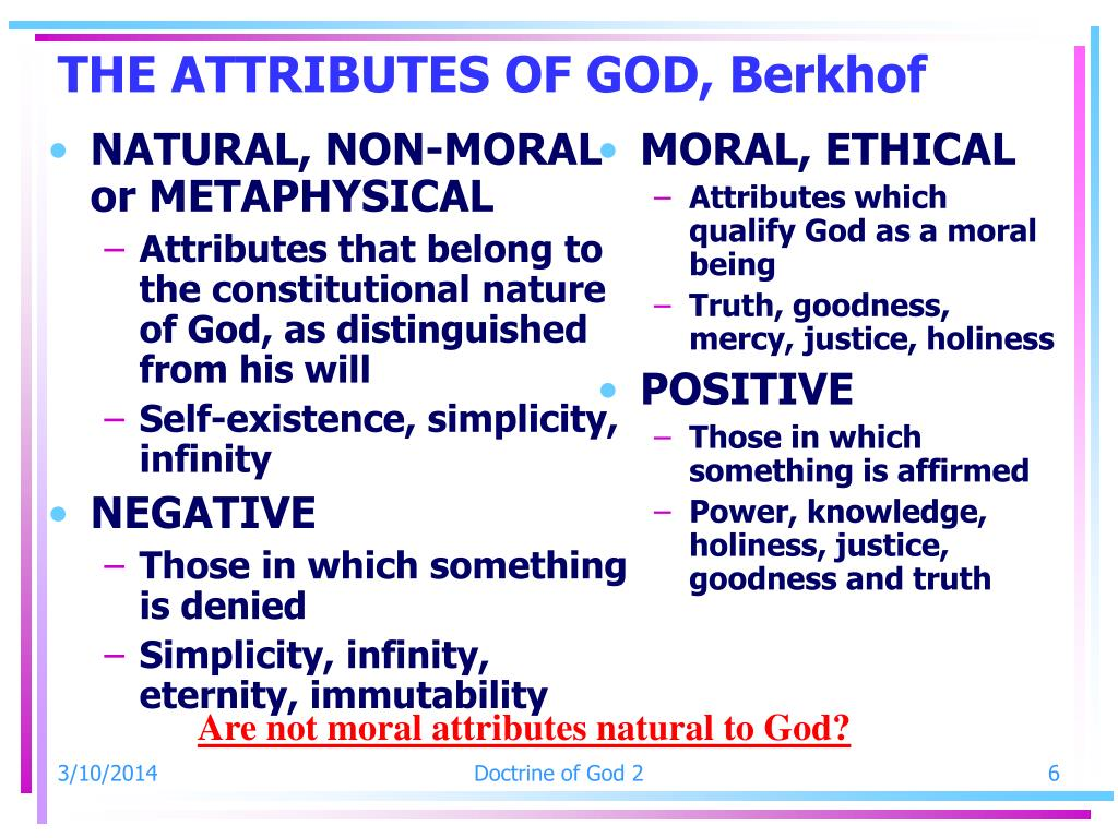 NATURAL, NON-MORAL or METAPHYSICAL