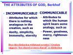 the attributes of god berkhof7