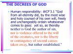 the decrees of god16