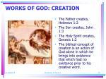 works of god creation