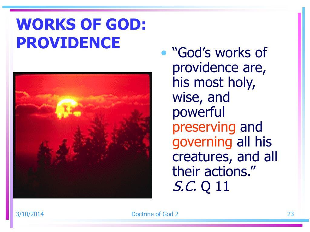 WORKS OF GOD: