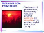 works of god providence