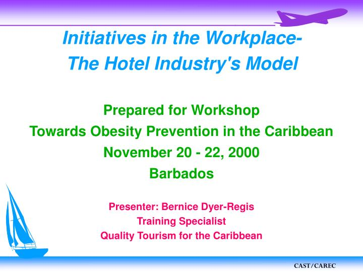 Initiatives in the workplace the hotel industry s model