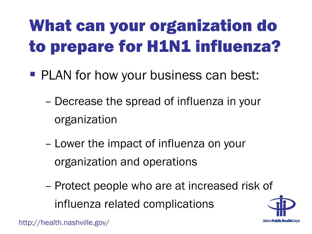 What can your organization do to prepare for H1N1 influenza?