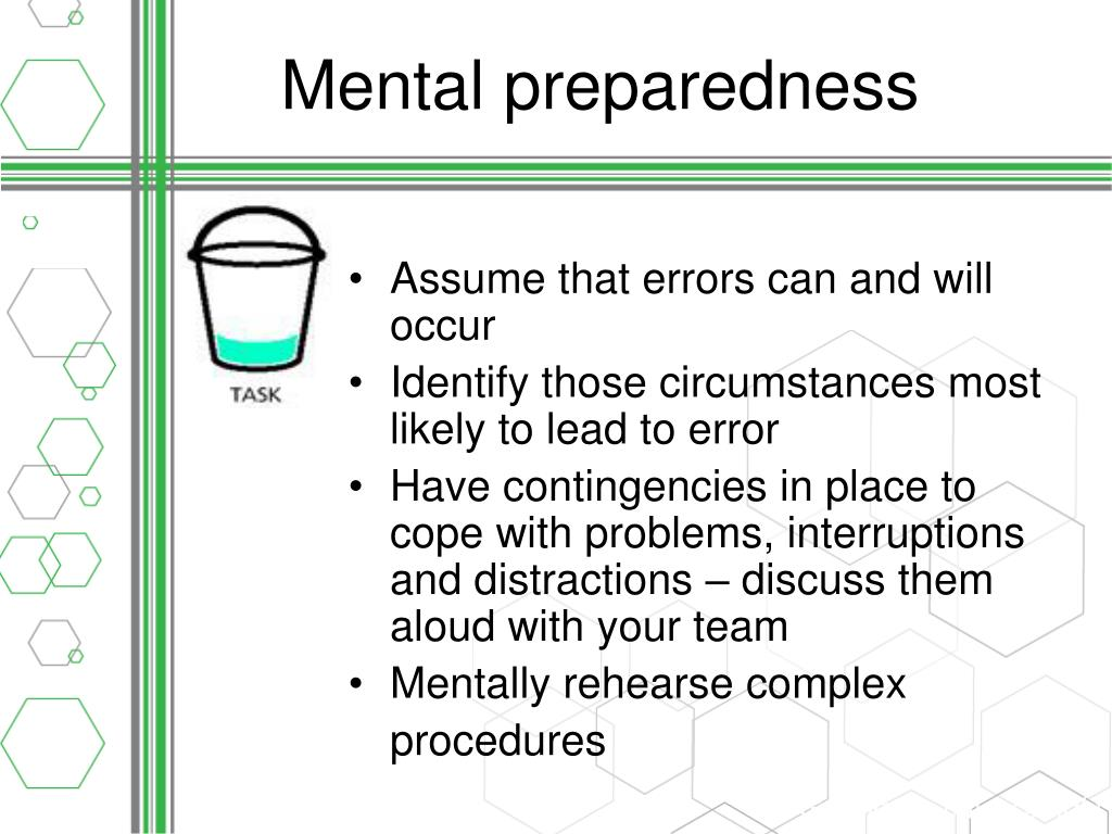 Mental preparedness