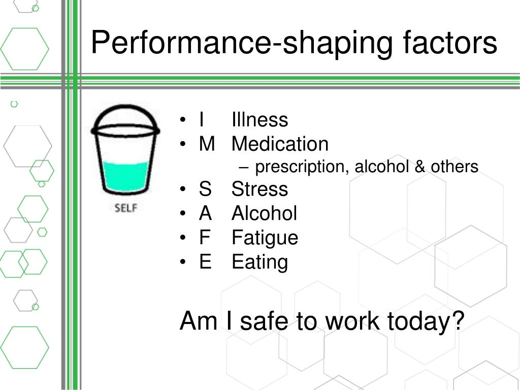 Performance-shaping factors