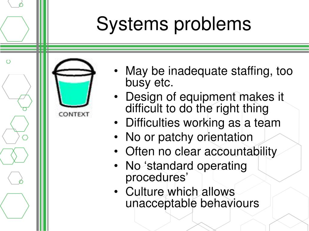 Systems problems