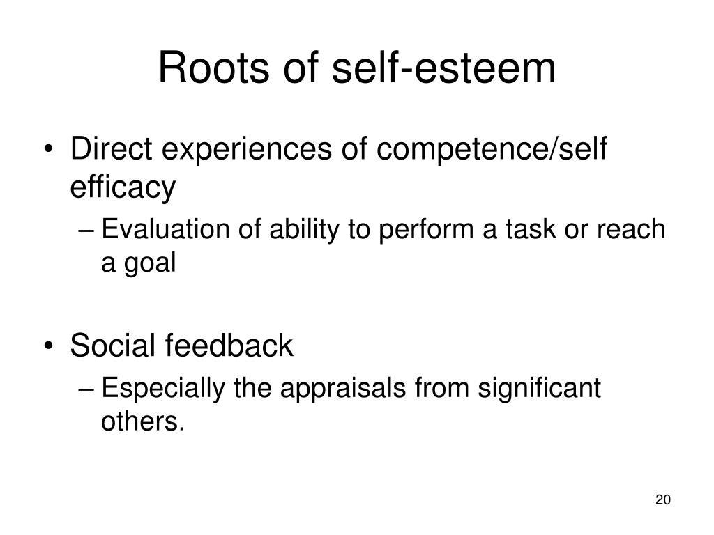 Roots of self-esteem