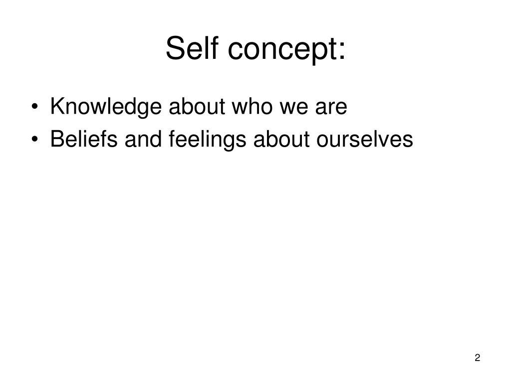 Self concept: