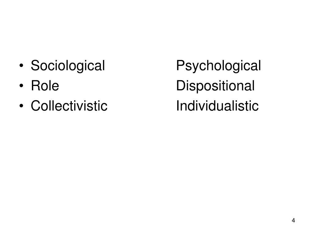 SociologicalPsychological