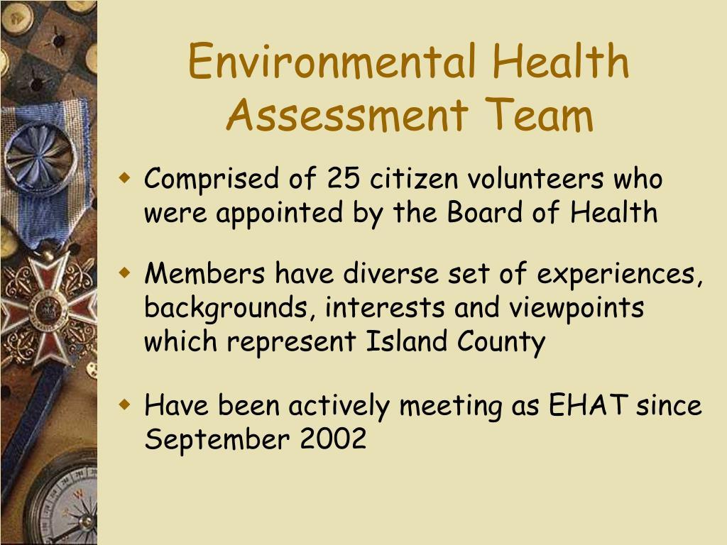 Environmental Health Assessment Team