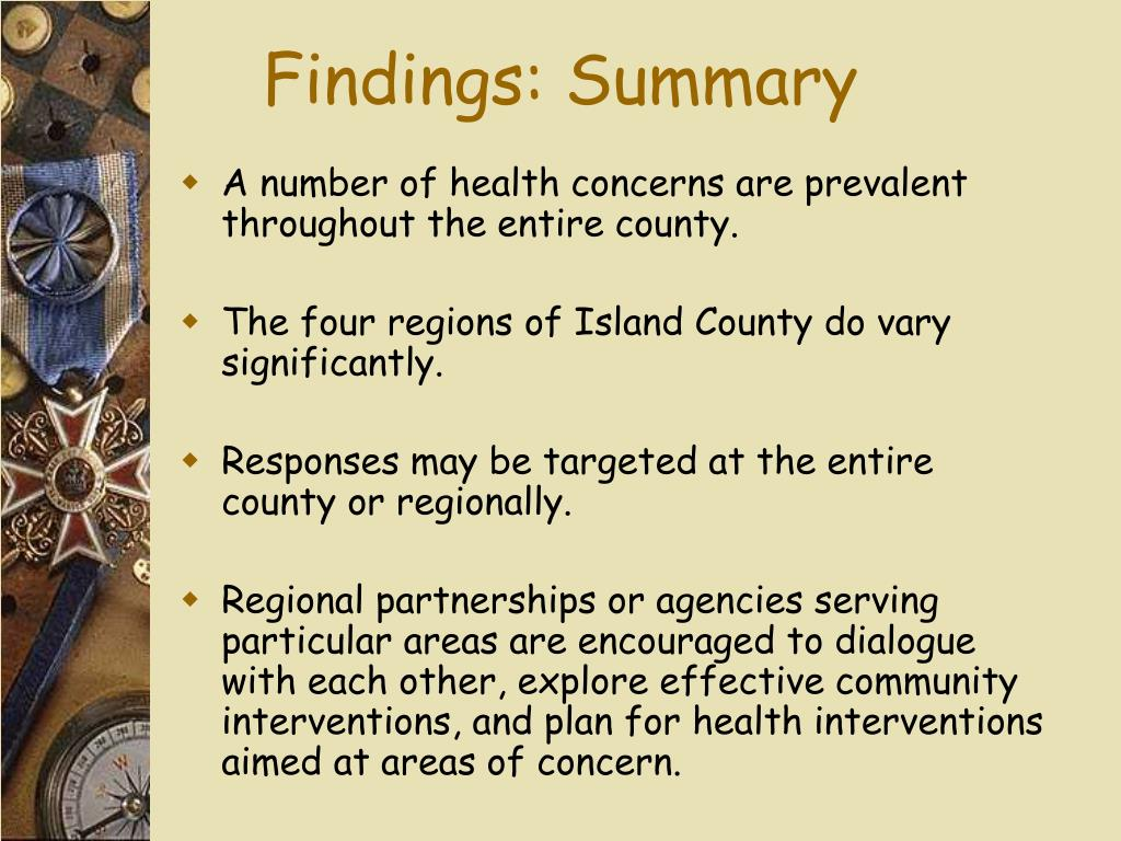 Findings: Summary
