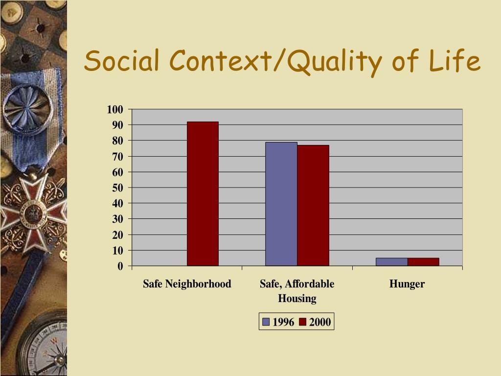 Social Context/Quality of Life