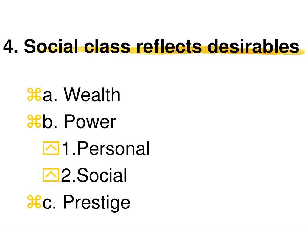 4. Social class reflects desirables