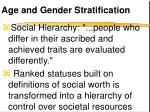 age and gender stratification
