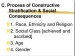 c process of constructive stratification social consequences