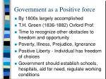 government as a positive force