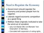 need to regulate the economy