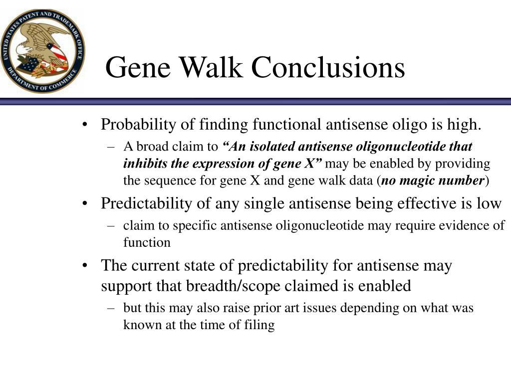 Gene Walk Conclusions