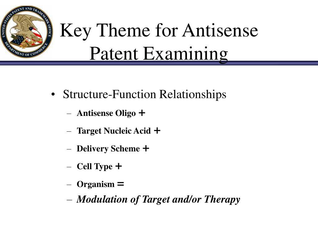 Key Theme for Antisense