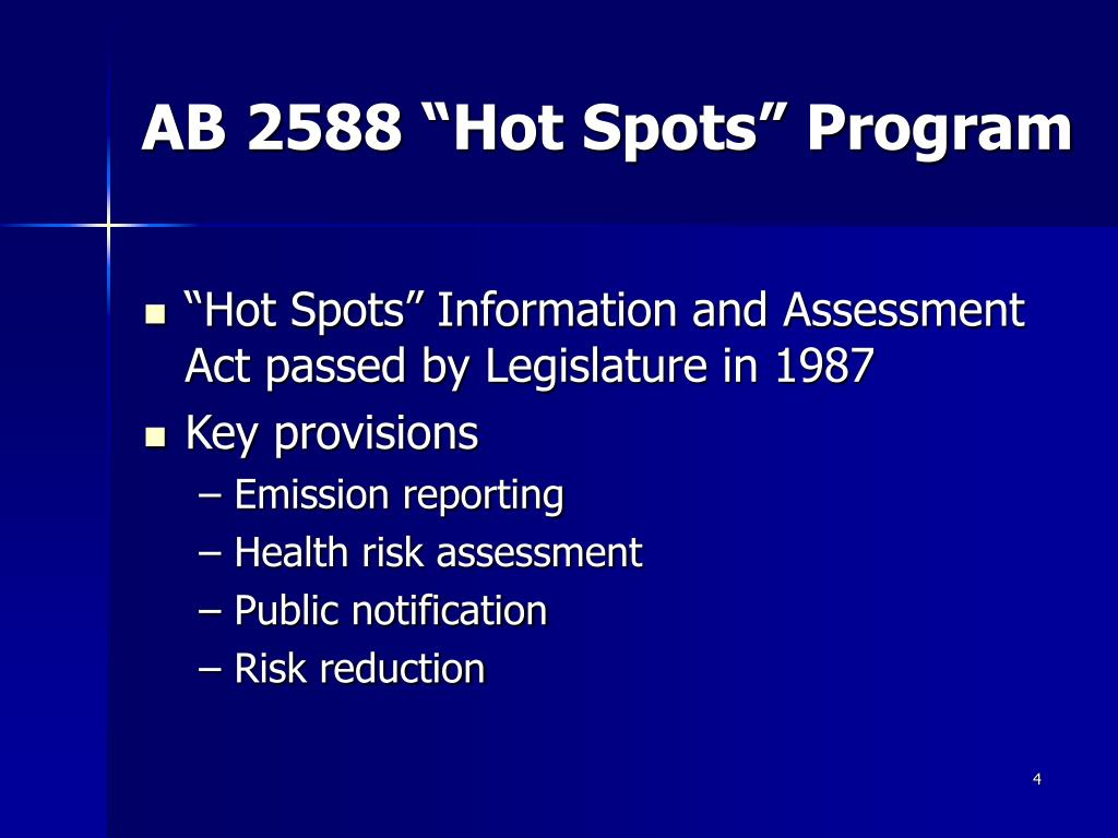 "AB 2588 ""Hot Spots"" Program"