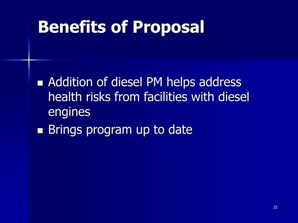 Benefits of Proposal