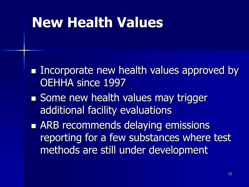 New Health Values