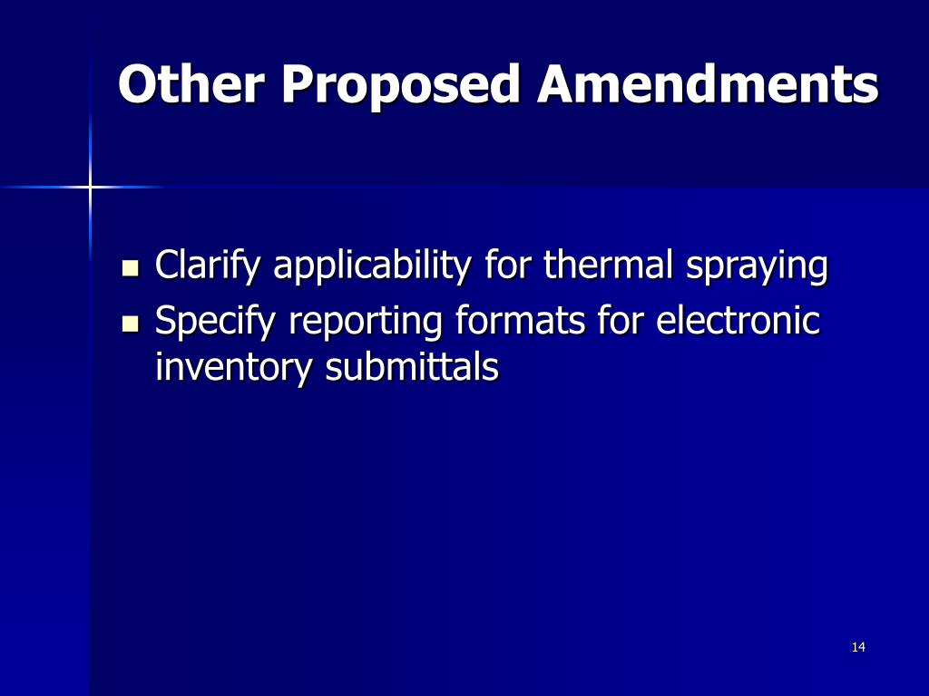 Other Proposed Amendments