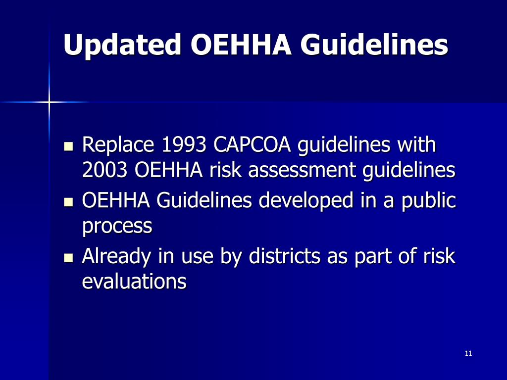 Updated OEHHA Guidelines