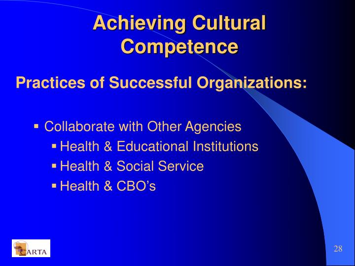 Achieving Cultural Competence