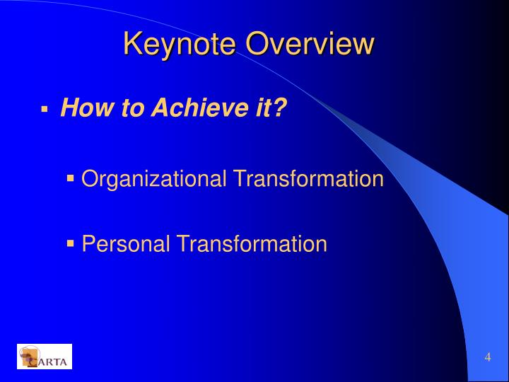 Keynote Overview