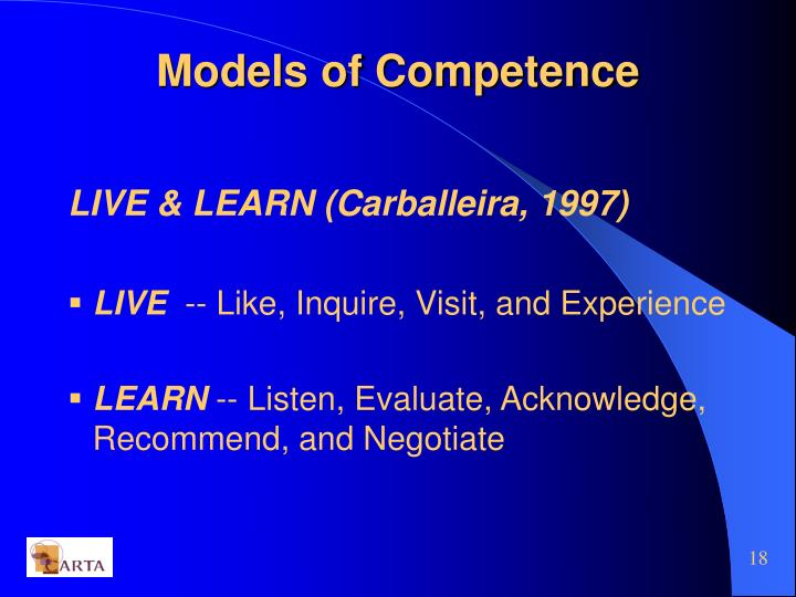 Models of Competence