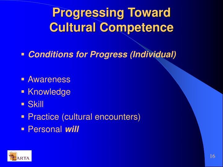 Progressing Toward