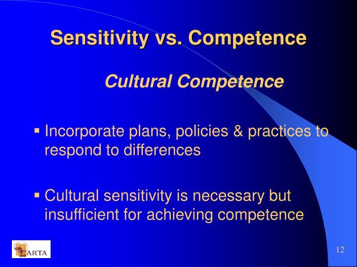 Sensitivity vs. Competence