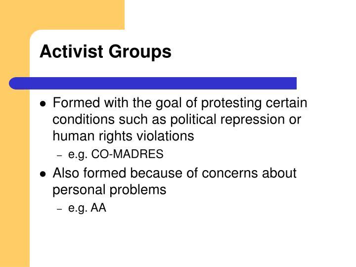 Activist Groups