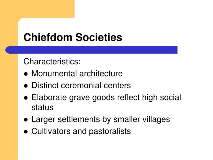 Chiefdom Societies
