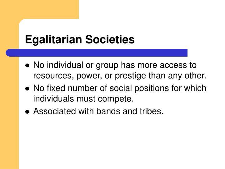 Egalitarian Societies